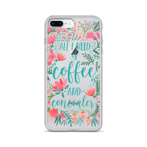 Coffee & Concealer – Juicy Palette • iPhone Case (Transparent)