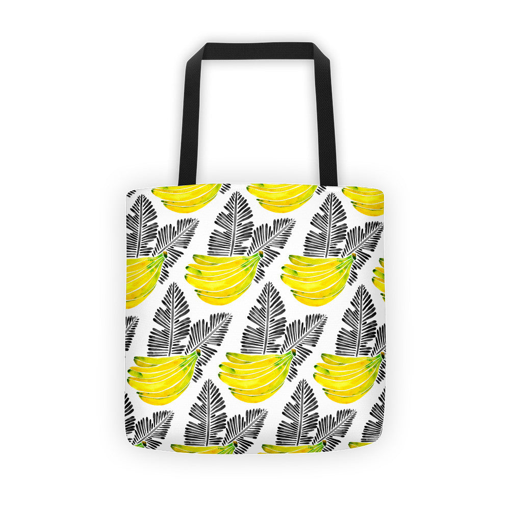 Banana Bunch – Yellow & Black  •  Tote Bag