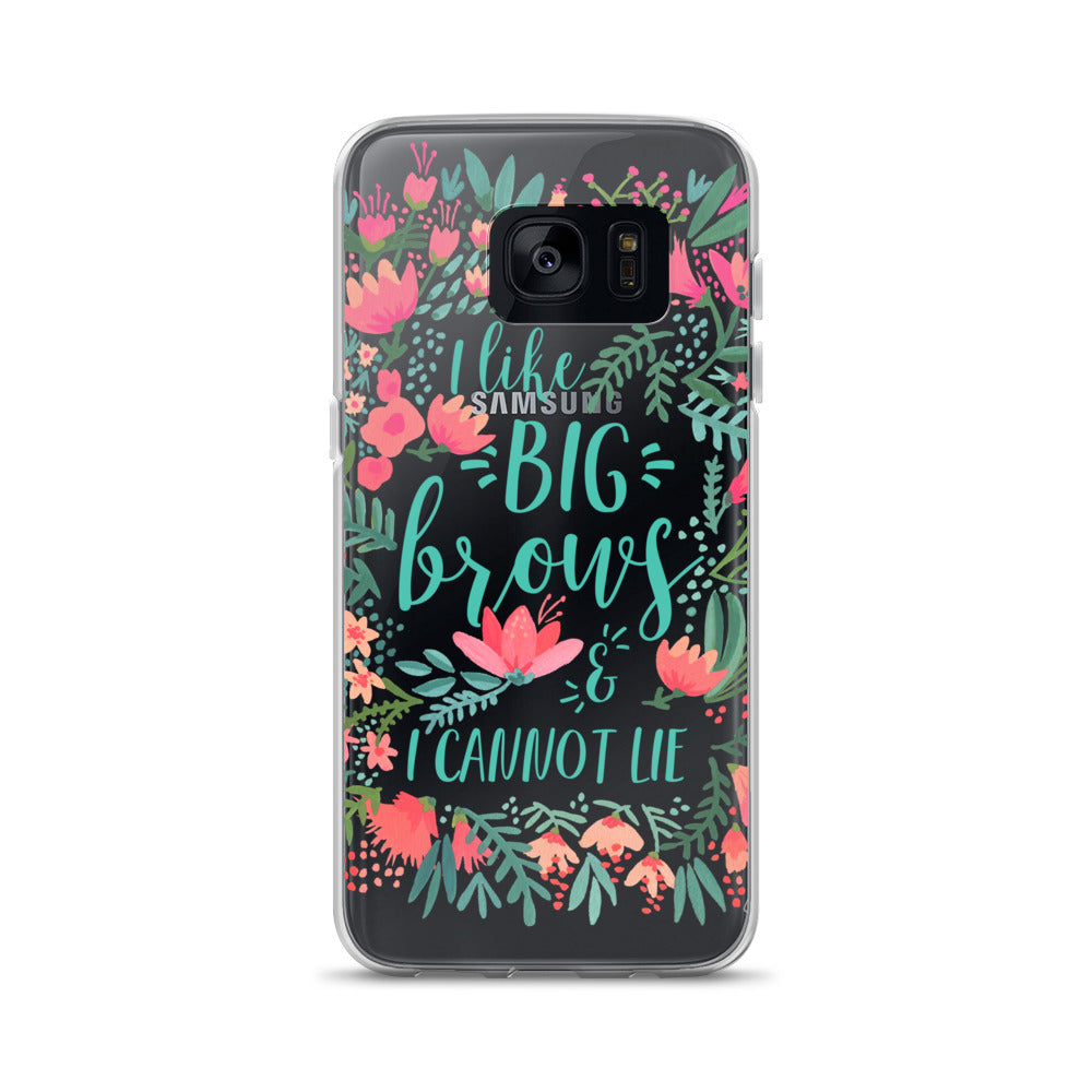 Big Brows – Juicy Palette • Samsung Case (Transparent)