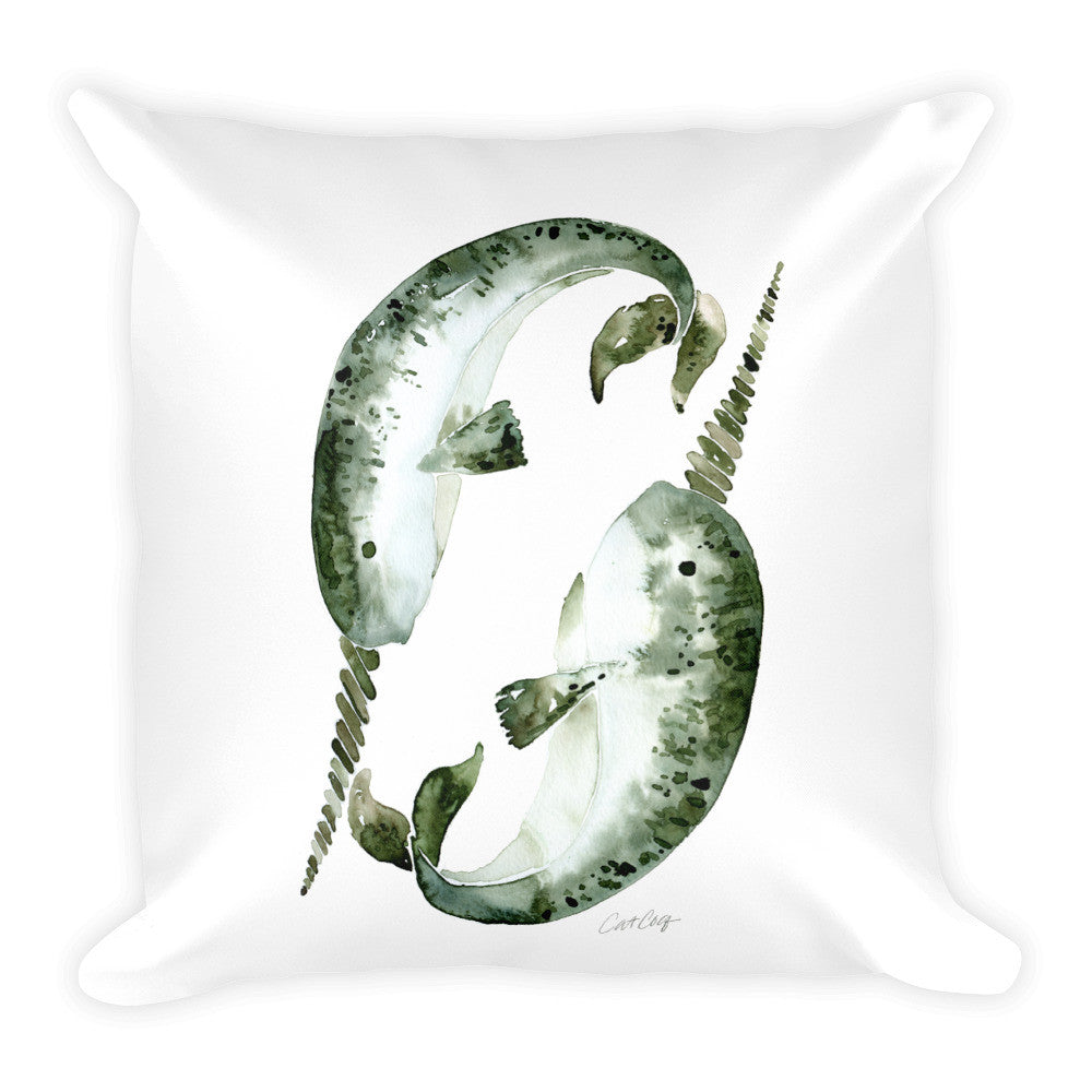 Narwhals • Square Pillow