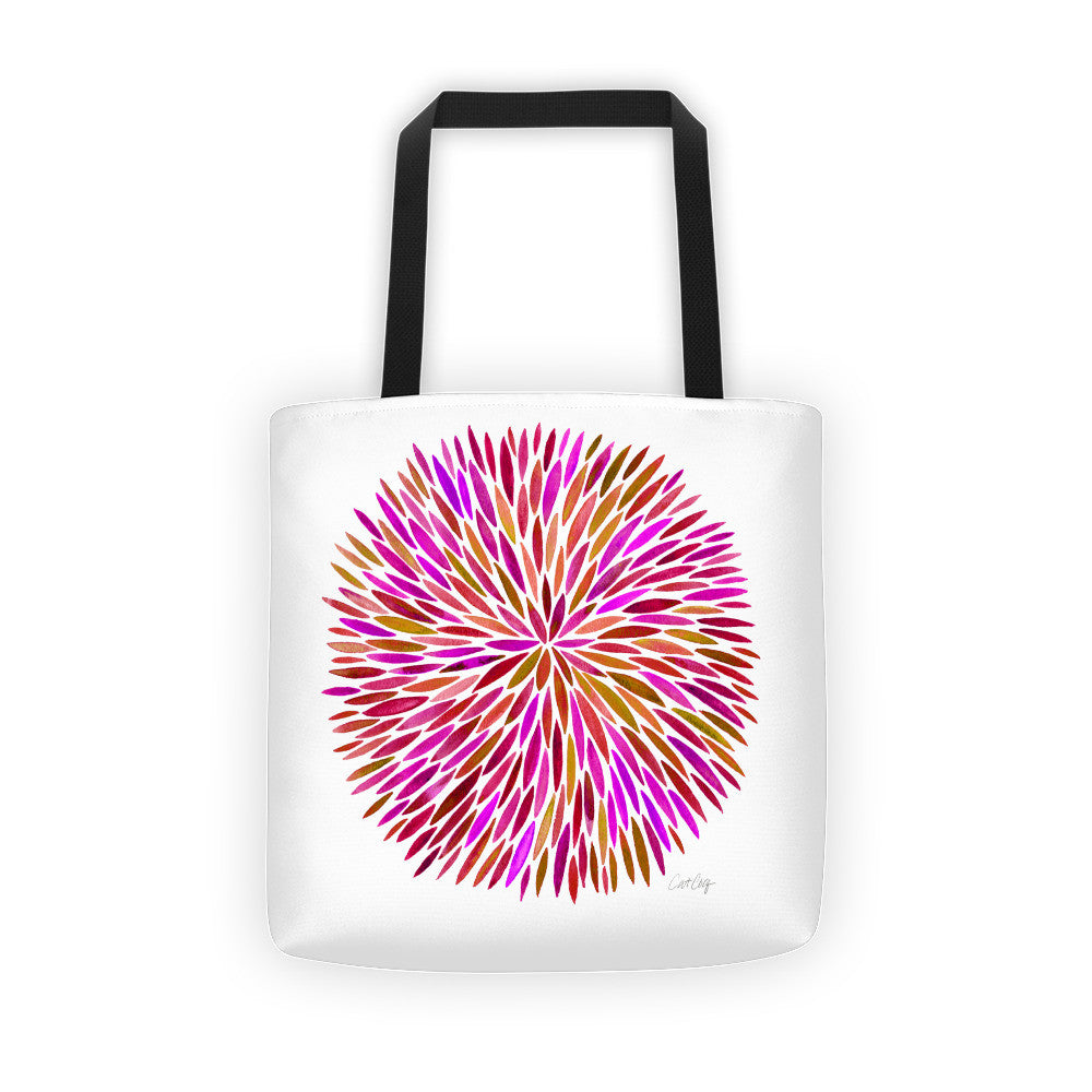 Watercolor Burst – Pink Palette  •  Tote Bag