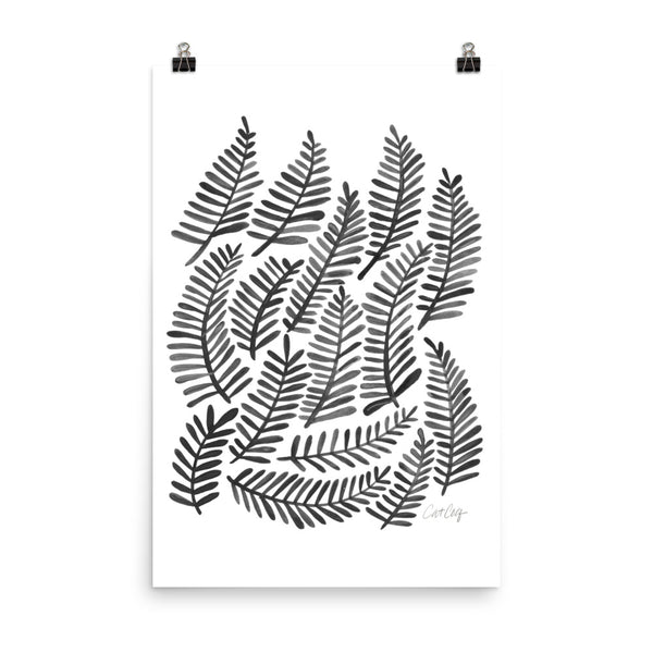 Fronds – Black Palette • Art Print