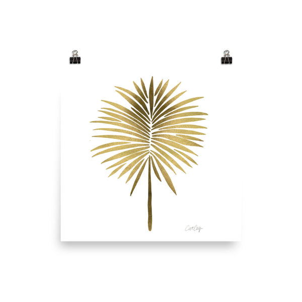Fan Palm – Gold Palette • Art Print