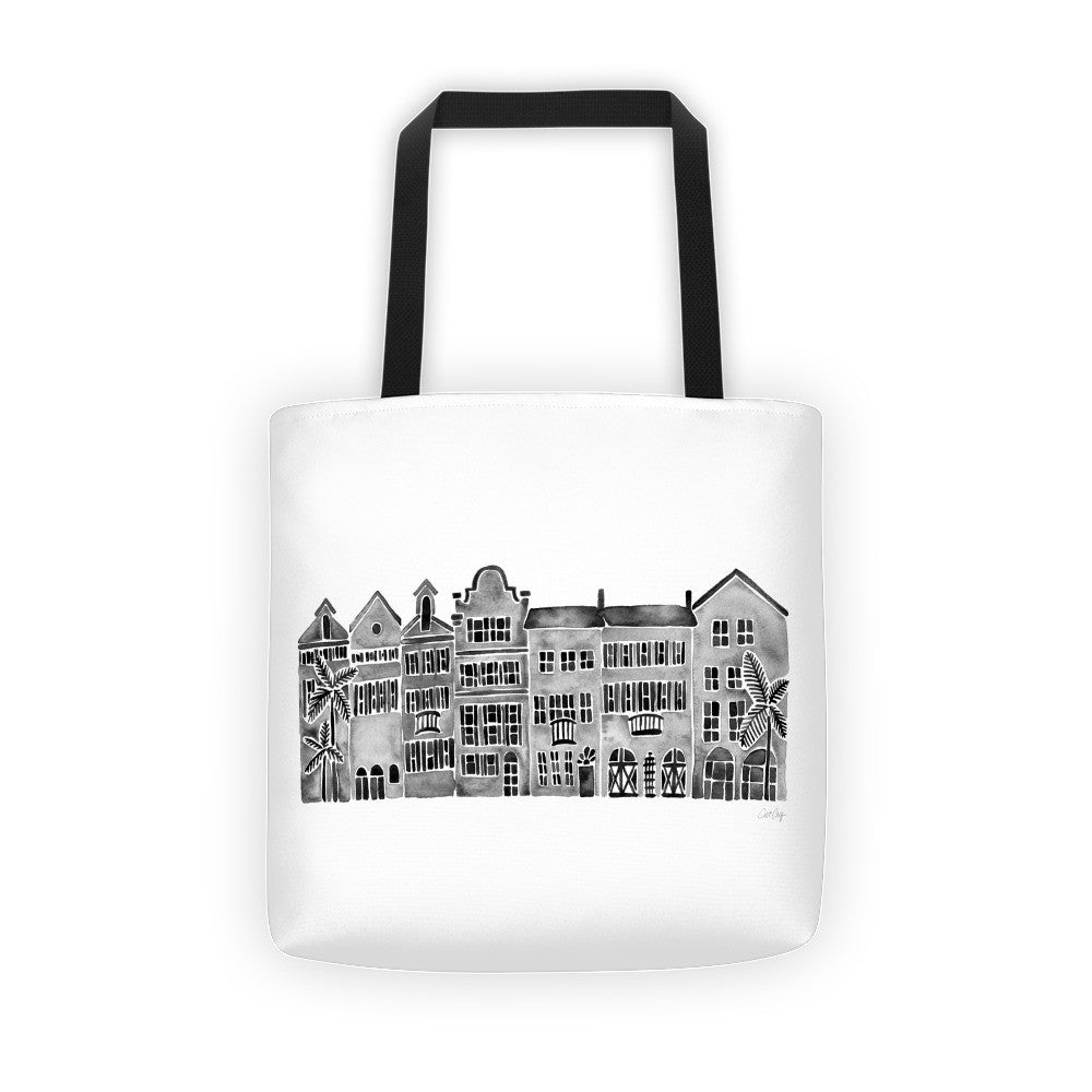 Row of Houses – Black Palette • Tote Bag