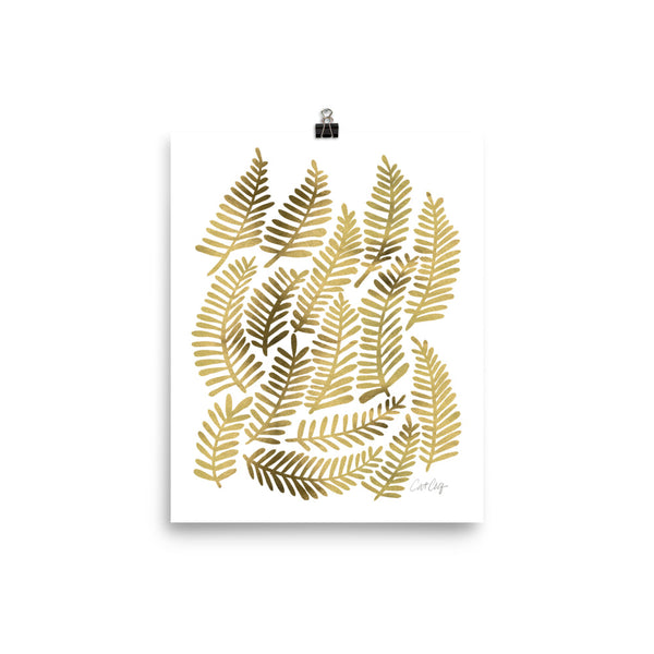 Fronds – Gold Palette • Art Print