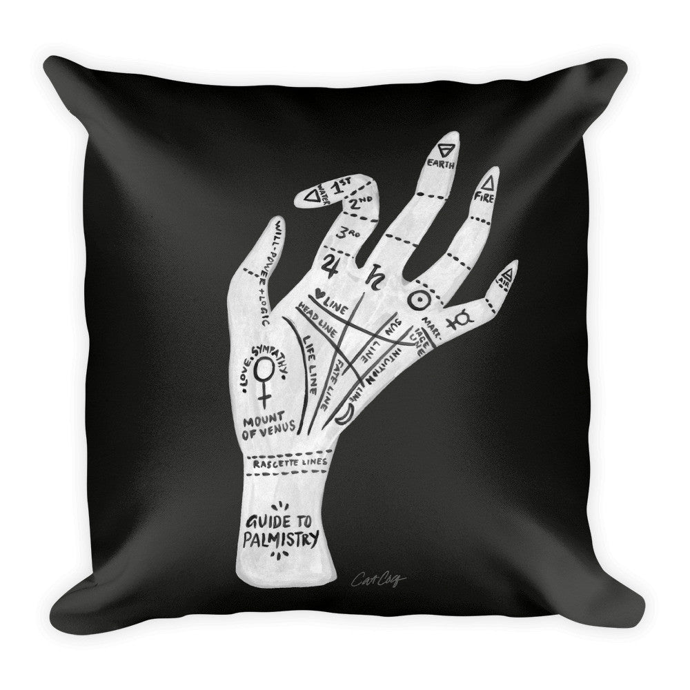 Palmistry – White Hand  •  Square Pillow