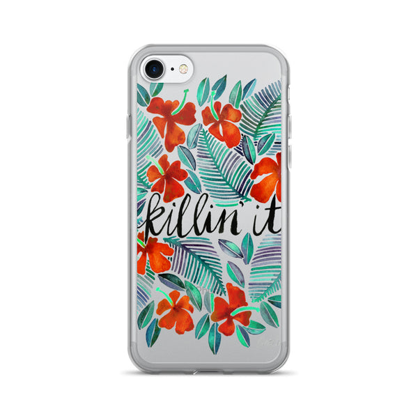 Killin' It – Red & Green • iPhone 7/7 Plus Case (Transparent)
