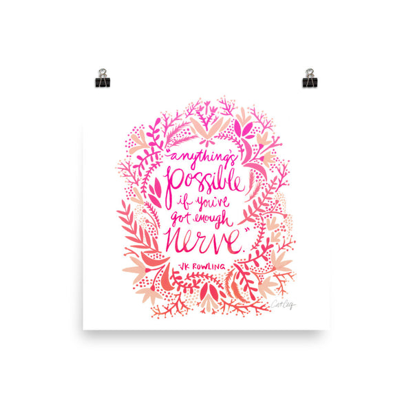 Anything's Possible – Pink Ombré Palette • Art Print