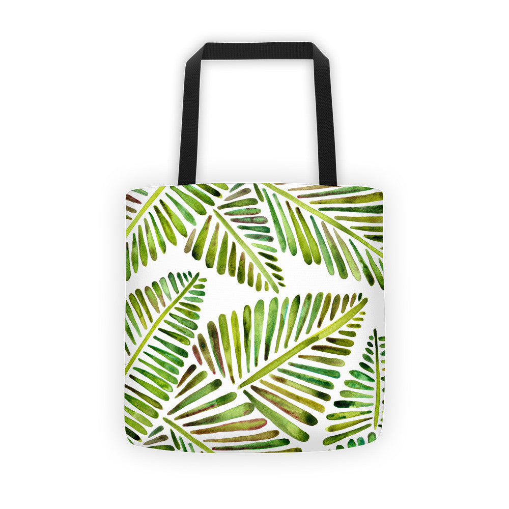 Banana Leaves – Green Palette  •  Tote Bag