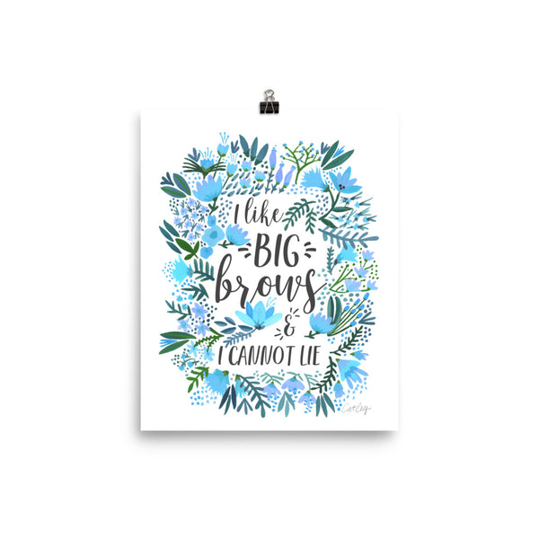 Big Brows – Blue Palette • Art Print