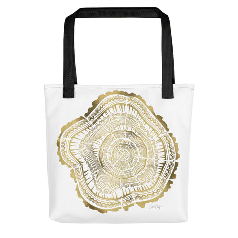Tree Rings – Gold Palette • Tote Bag
