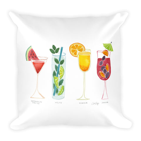 Summer Drinks • Square Pillow