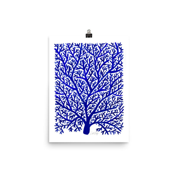 Fan Coral – Navy Palette • Art Print