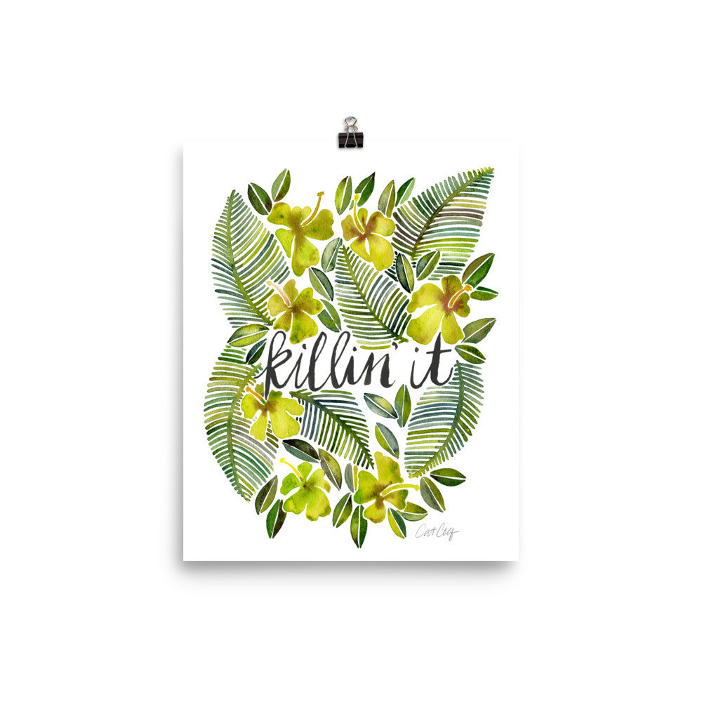 Killin' It – Yellow Palette • Art Print