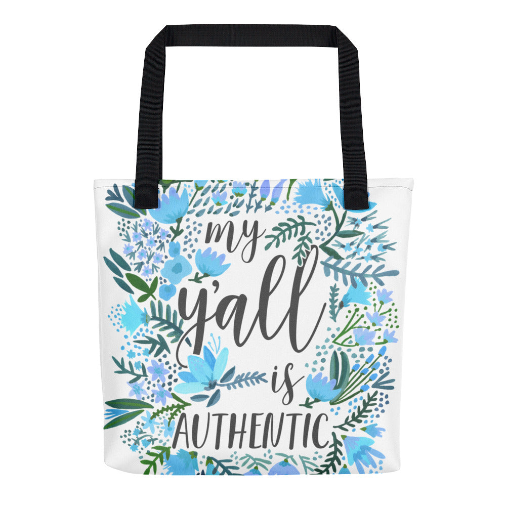 My Y'all is Authentic – Blue Palette • Tote Bag
