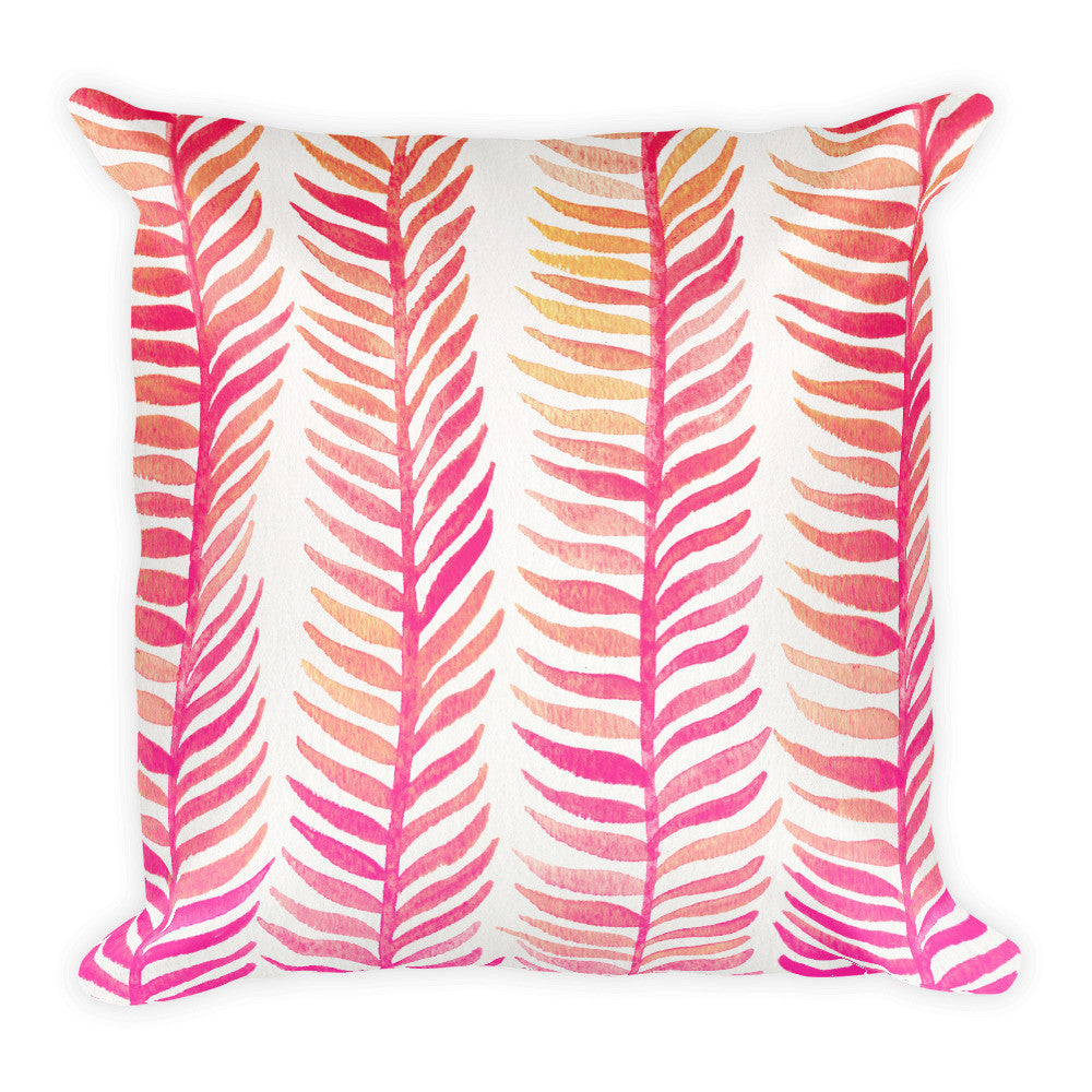 Stems – Pink Palette  •  Square Pillow