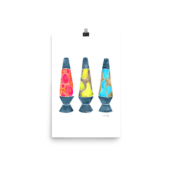 Lava Lamps – Primary Color Palette • Art Print