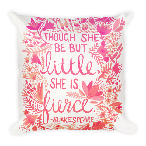 Little & Fierce – Pink Ombré Palette  •  Square Pillow