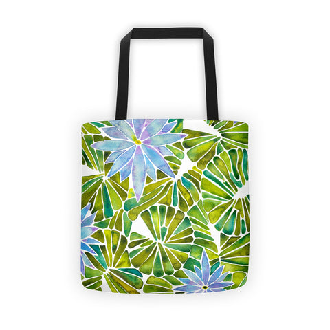 Water Lilies – Lavender & Green Palette  •  Tote Bag