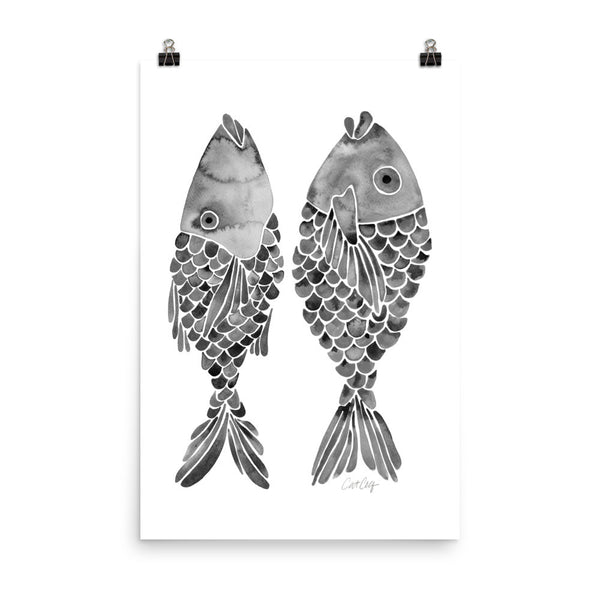 Indonesian Fish – Black Palette • Art Print
