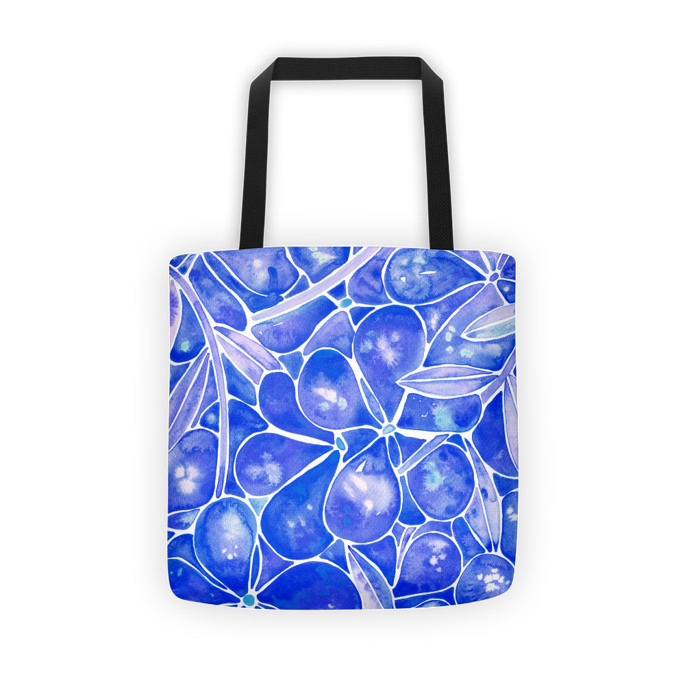Orchid Wall – Navy Palette  •  Tote Bag