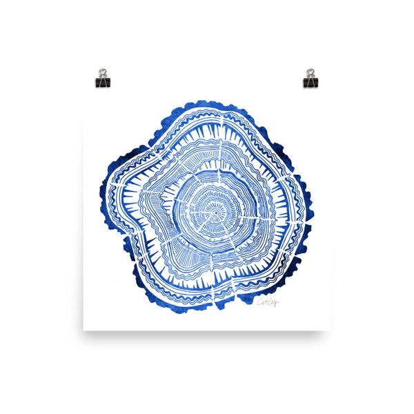 Tree Rings – Navy Palette • Art Print