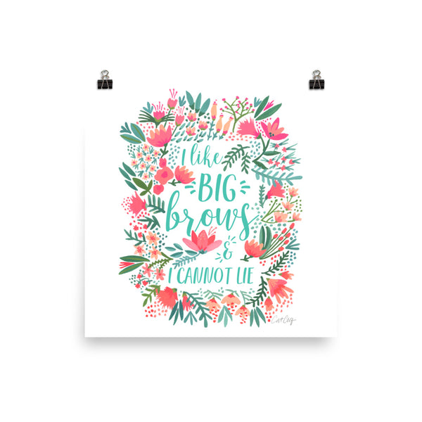 Big Brows – Juicy Palette • Art Print