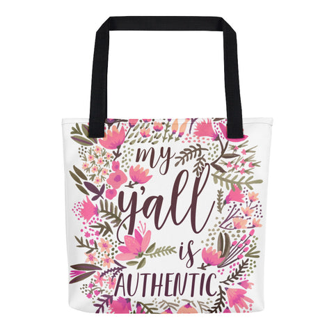 My Y'all is Authentic – Vintage Palette • Tote Bag