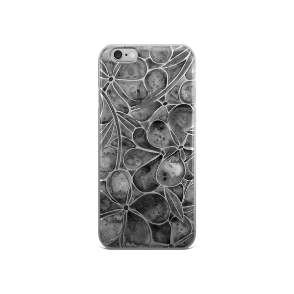 Orchid Wall – Black Palette  •  iPhone 5/5s/Se, 6/6s, 6/6s Plus Case (Transparent)