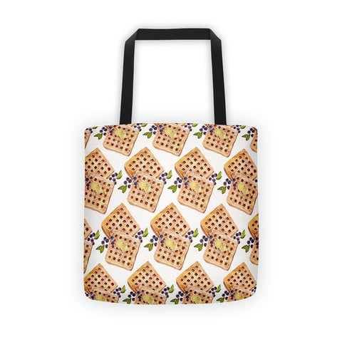 Blueberry Breakfast Waffles  •  Tote Bag