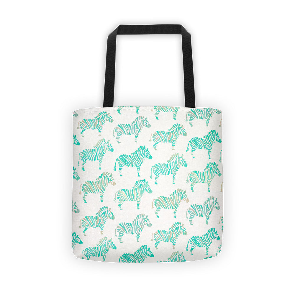 Zebra Collection – Mint Palette  •  Tote Bag
