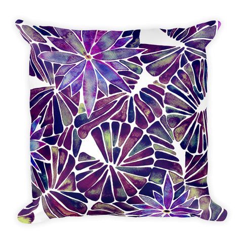 Water Lilies – Mauve Palette  •  Square Pillow