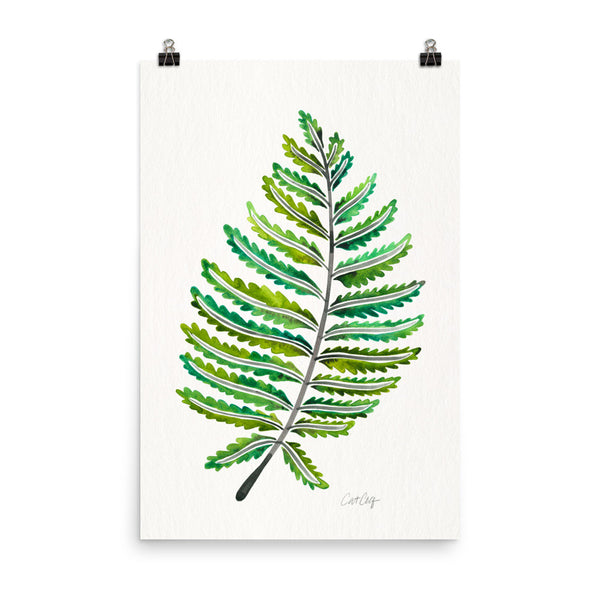 Fern Leaf – Green Palette • Art Print