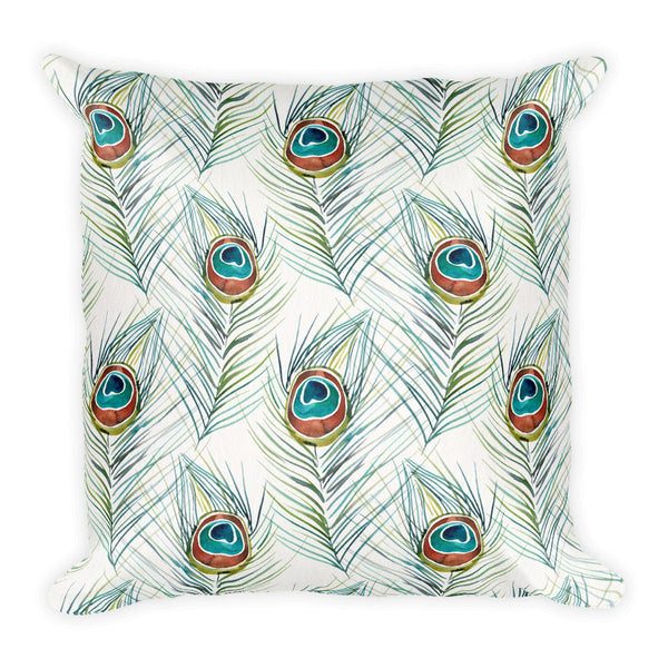 Peacock Feather • Square Pillow