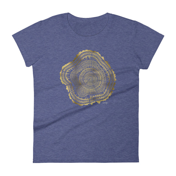 Tree Rings – Gold Palette • Women's short sleeve t-shirt