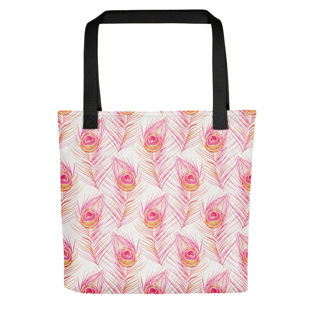 Peacock Feather – Peachy Pink Palette • Tote Bag