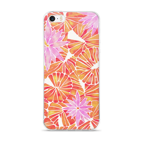 Water Lilies – Melon Palette  •  iPhone 5/5s/Se, 6/6s, 6/6s Plus Case