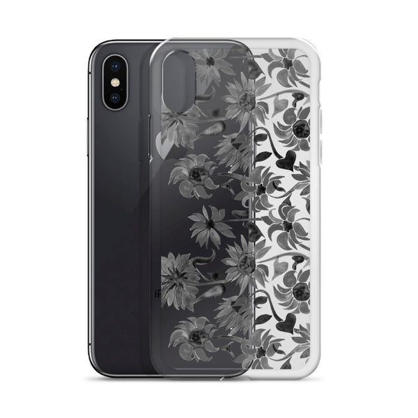 Sunflower Watercolor – Black Palette • iPhone Case