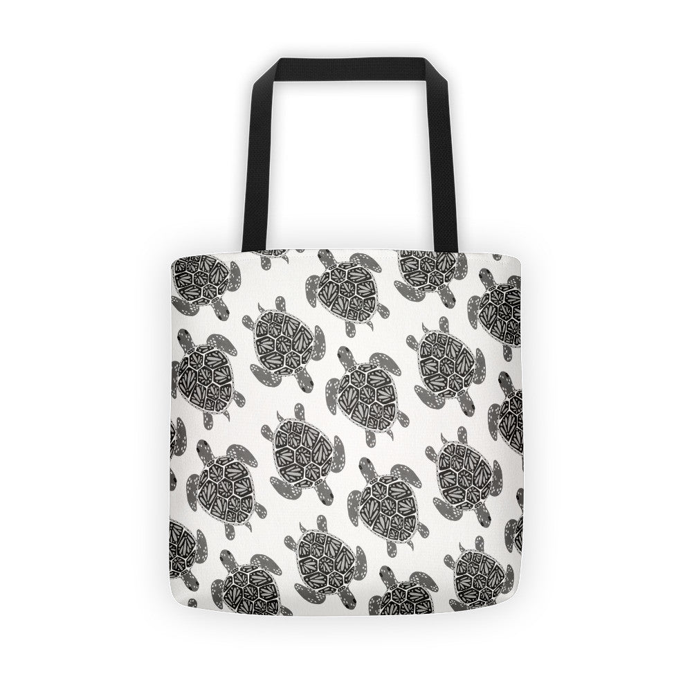 Sea Turtle – Black Palette  •  Tote Bag