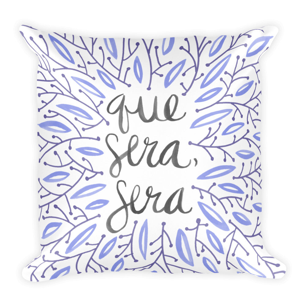 Whatever Will Be, Will Be – Illustrated Lavender • Square Pillow