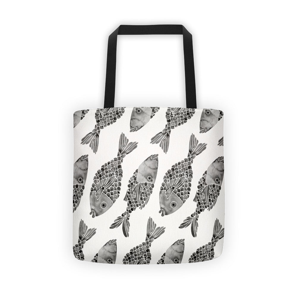 Indonesian Fish – Black Palette  •  Tote Bag