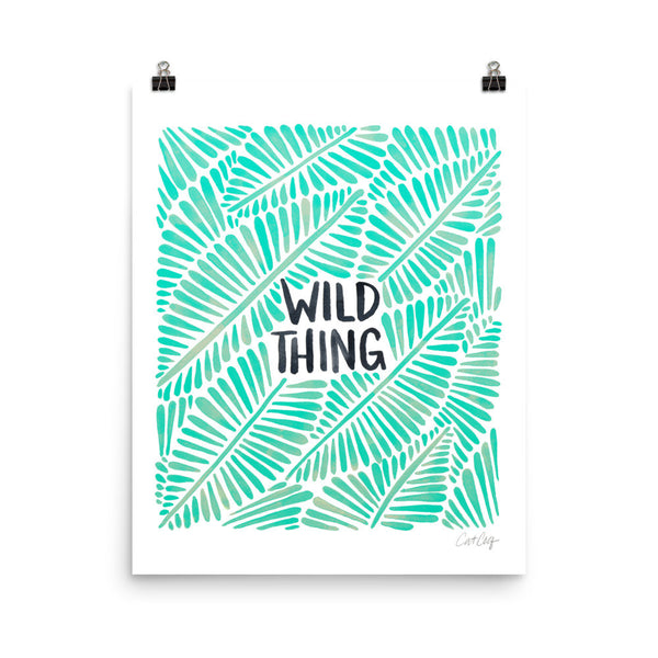 Wild Thing – Mint Palette  •  Art Print