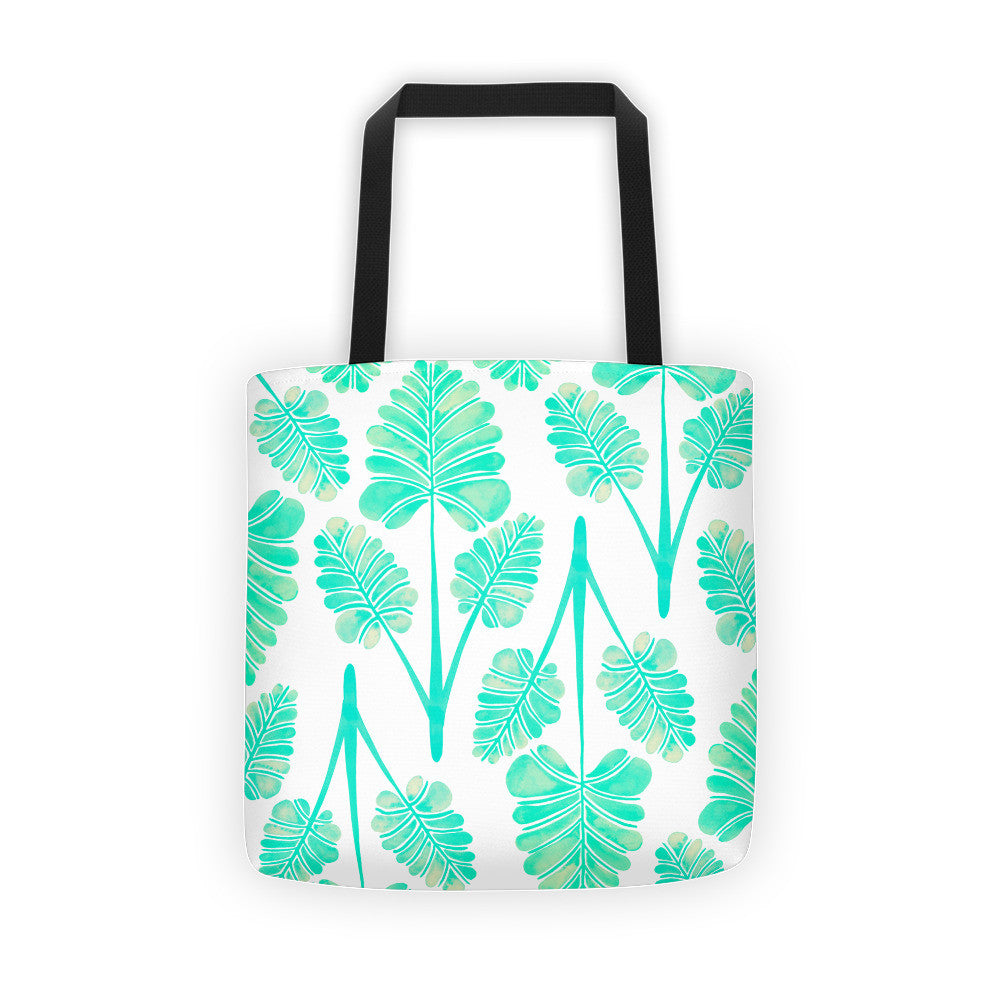 Palm Leaf Trifecta – Mint Palette • Tote Bag