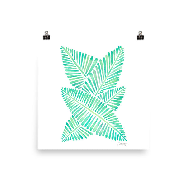 Banana Leaves – Mint Palette • Art Print