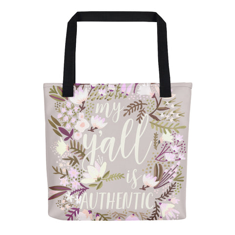 My Y'all is Authentic – Spring Palette • Tote Bag