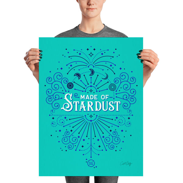 Made of Stardust – Turquoise & Navy Palette • Art Print
