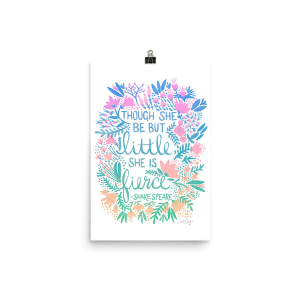 Little & Fierce – Lavender Ombré Palette • Art Print