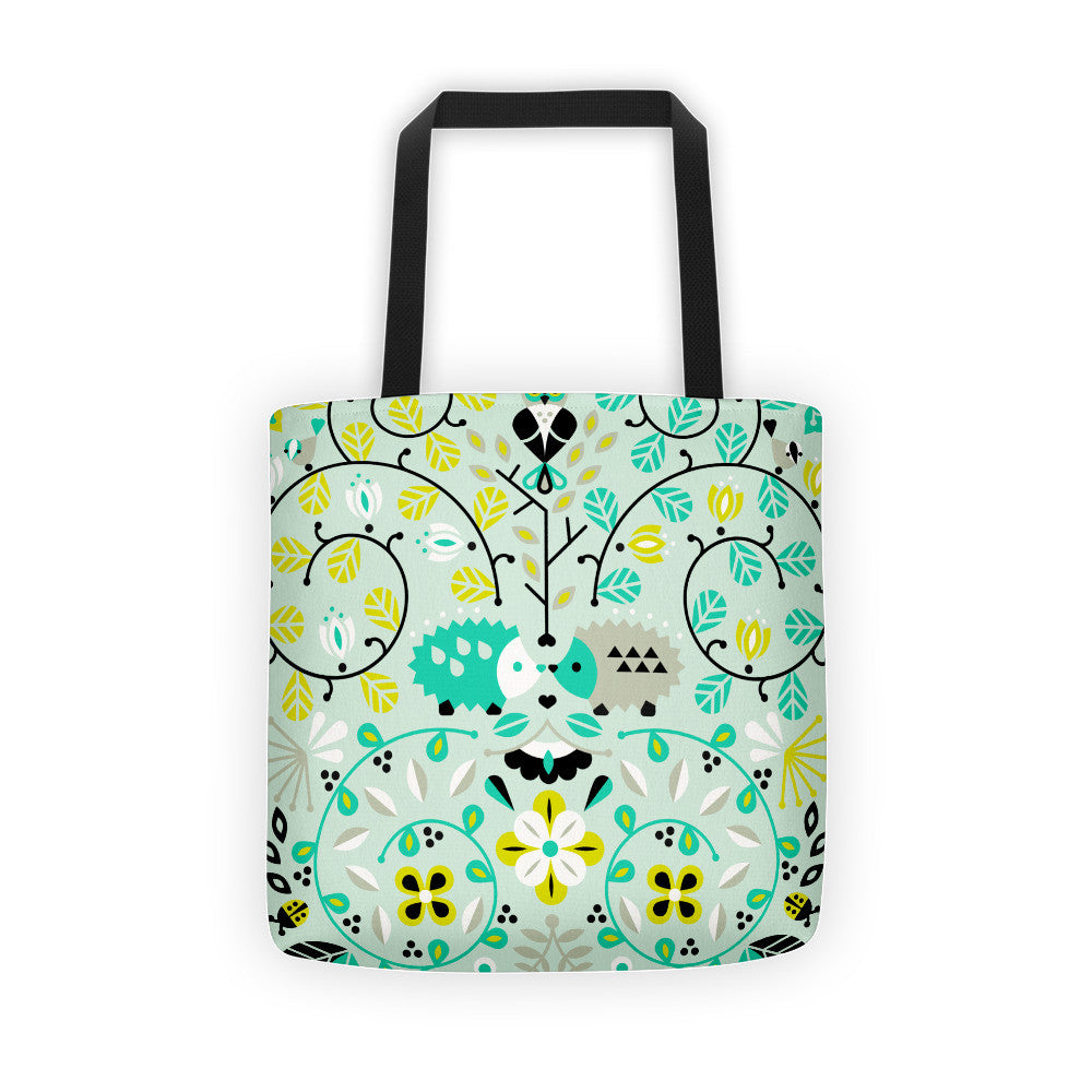 Hedgehog Lovers – Mint Green Palette  •  Tote Bag