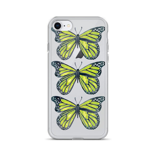 Butterfly – Lime Palette • iPhone Case (Transparent)