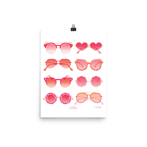 Sunglasses Collection – Pink Palette • Art Print